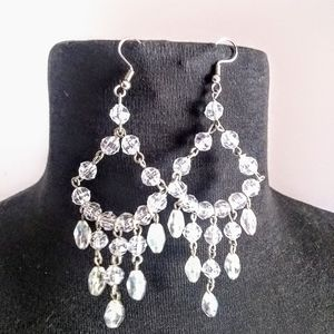 Faux Crystal Chandelier Earrings